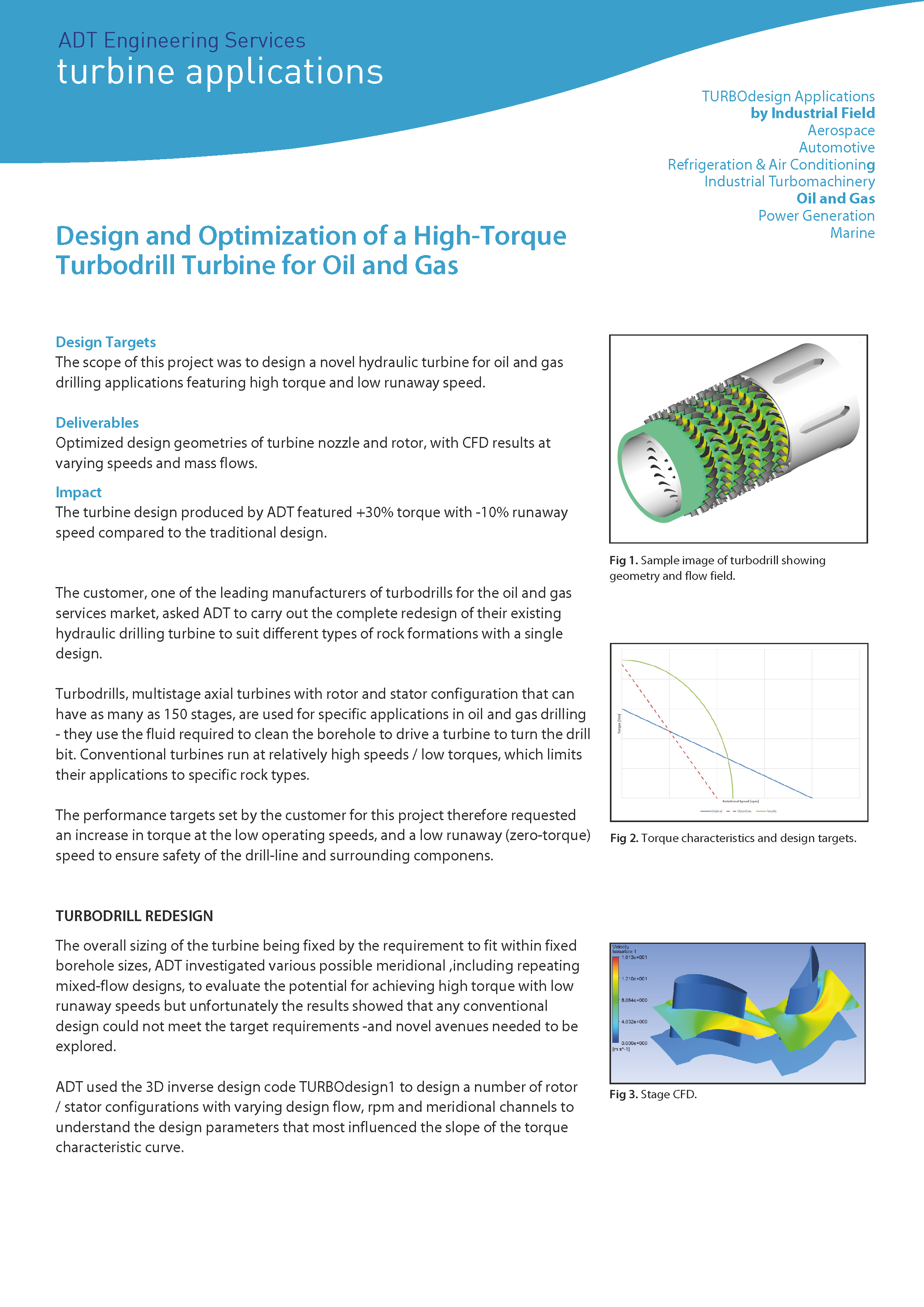 ADT Consultancy Summary - High Torque Turbodrill Turbine front page