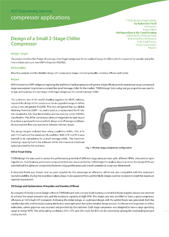 ADT Consultancy - Design of a Small 2-Stage Chiller Compressor front page