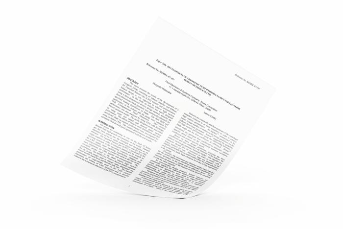 Development of Cryogenic Pump Hydrodynamics Cover